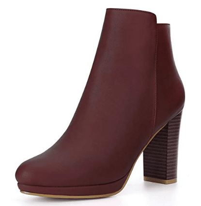 gifts for women Allegra K Chunky Heel Platform Ankle Boots