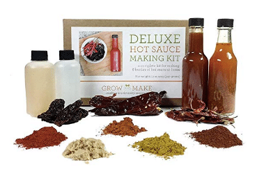 gift ideas for women Grow and Make: Deluxe DIY Gourmet Hot Sauce Kit
