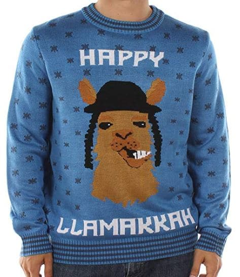 Best Ugly Holiday Sweaters on Amazon: Happy Llamakkah Hanukkah Sweater