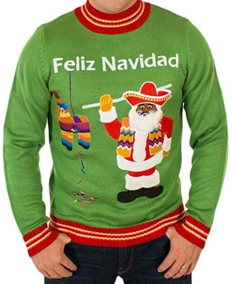 Best Ugly Christmas Holiday Sweaters on Amazon: Feliz Navidad Ugly Christmas Sweater