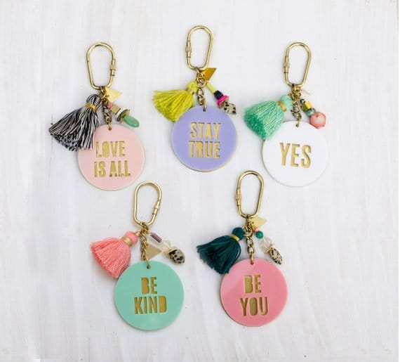 womens gifts Acrylic Quote Keychains