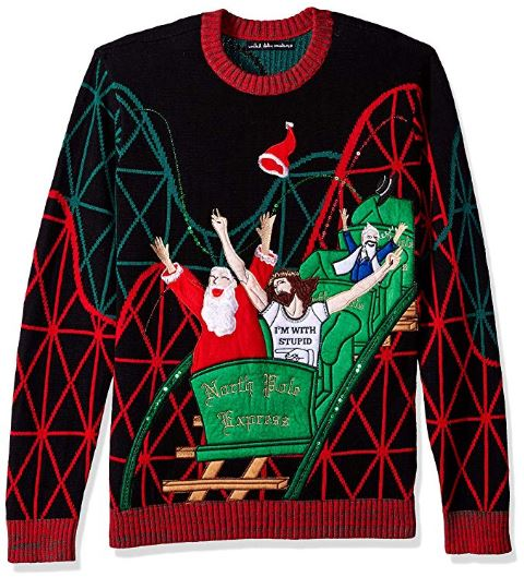 Best Ugly Holiday Sweaters on Amazon: Jesus & Santa Roller Coaster Buddies