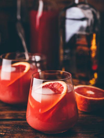 Whiskey Drinks For Winter - whiskey grapefruit