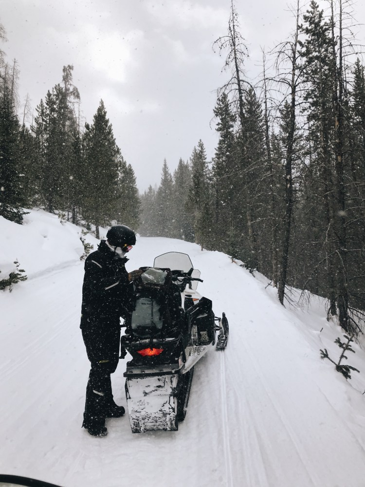 Snowmobiling in Winter Park, CO