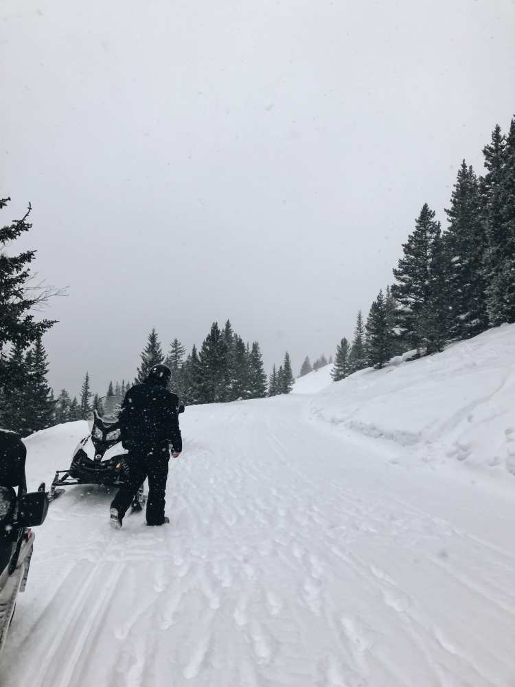 Snowmobiling in Winter Park, Colorado