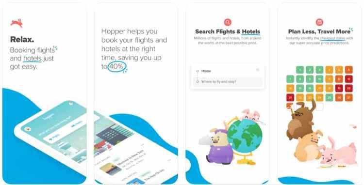 Helpful Travel Apps - hopper