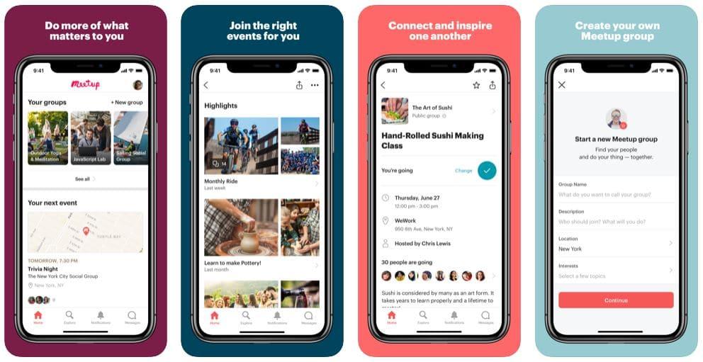 Helpful Travel Apps - meet up