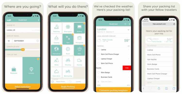 Best Apps for Travelers - PackPoint App