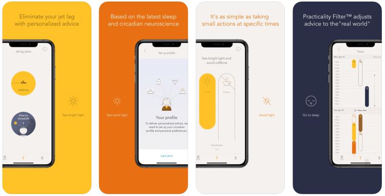 Helpful Travel Apps for jet lag