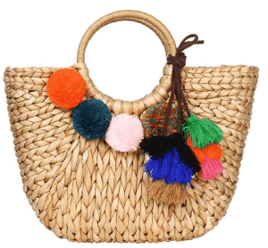 fun beach bag for tropical vacation