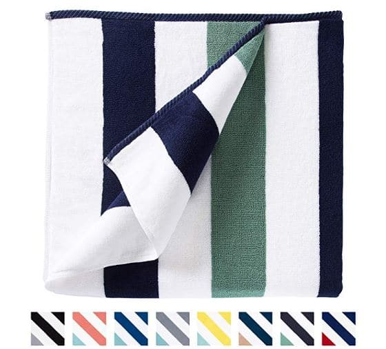 best beach towel to pack for a tropical beach vacation