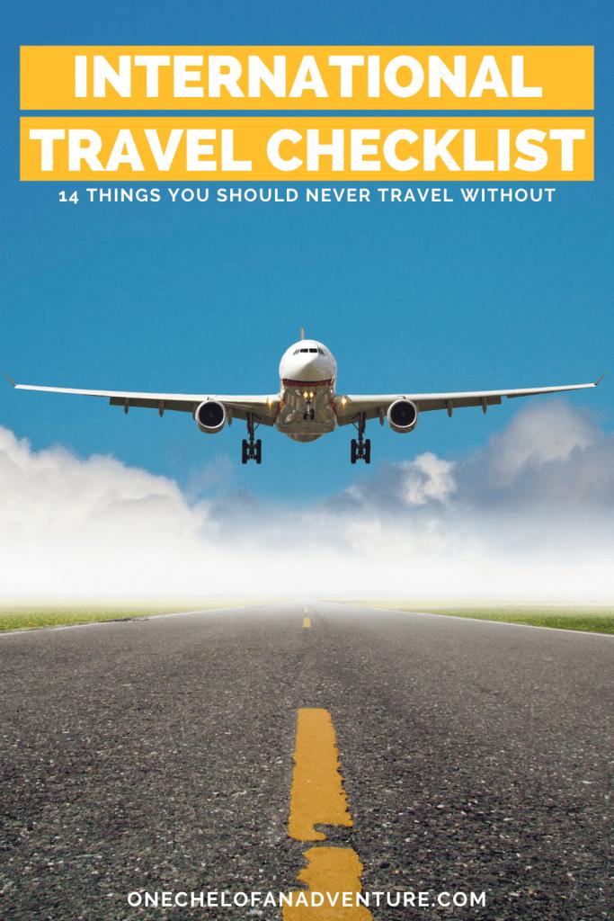 International Travel Essentials Checklist