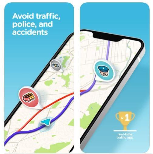 waze maps for road trip apps