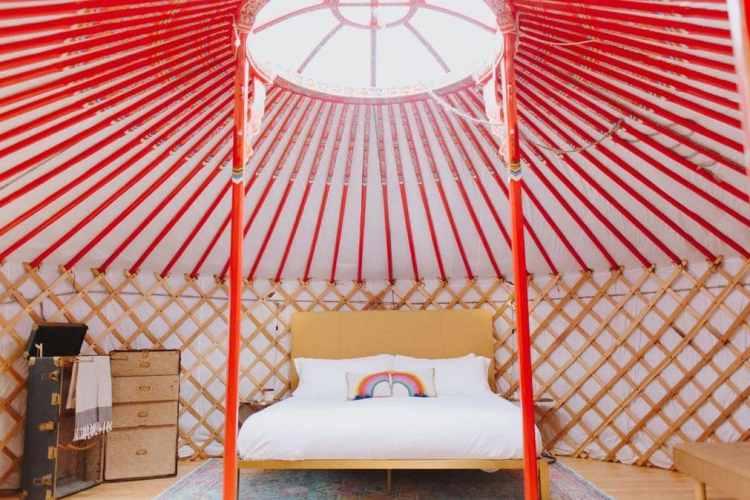 yurtopia inside glam yurt