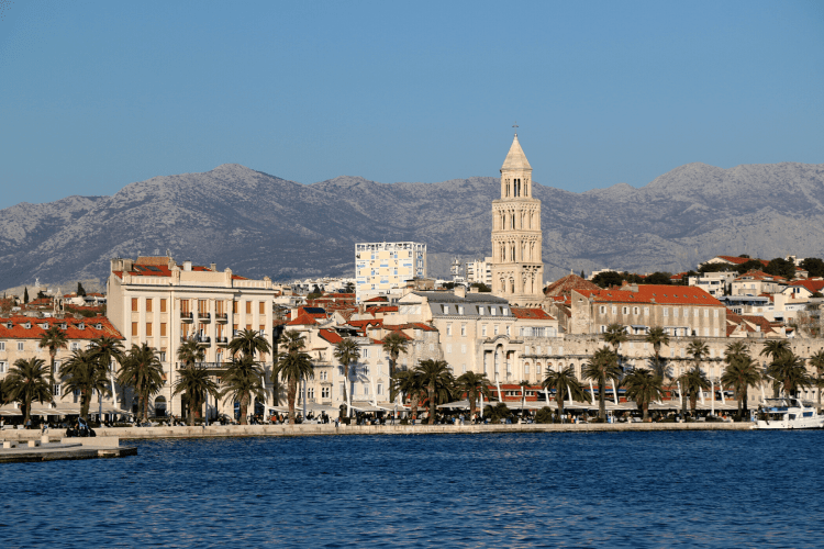 The Riva in Split Croatia