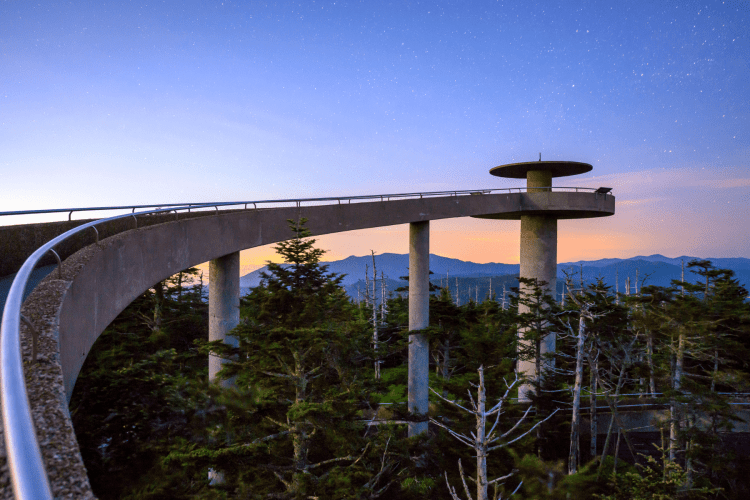 Clingmans Dome observation tower - Smoky Mountains national Park