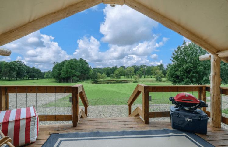 luxury tent with amazing view