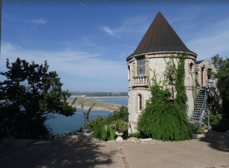 Castle located on Lake Travis Texas