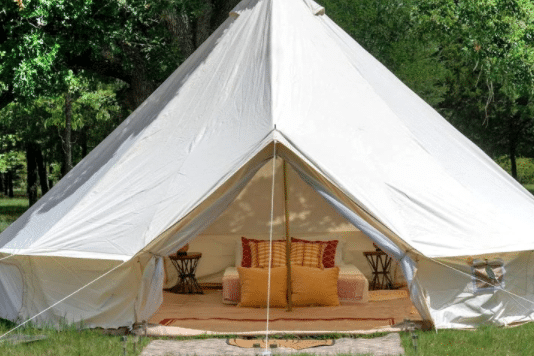 Bell Tent Glamping near Dallas