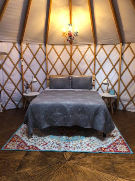 Wildflower Yurt Bedroom