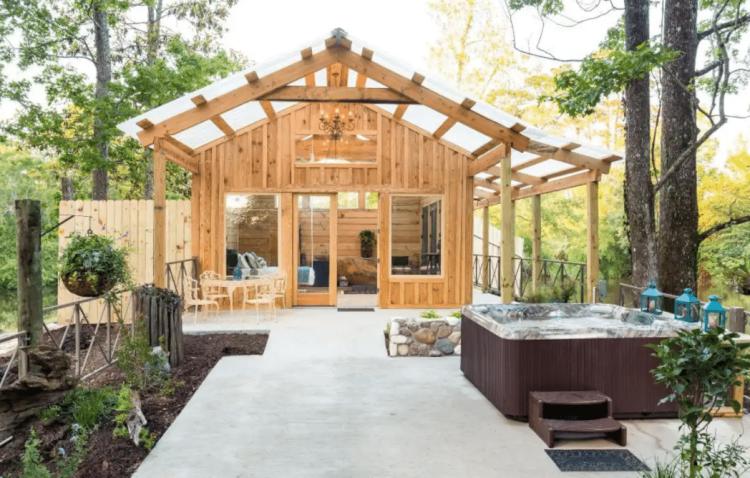 naturalist boudoir cabin texas rental