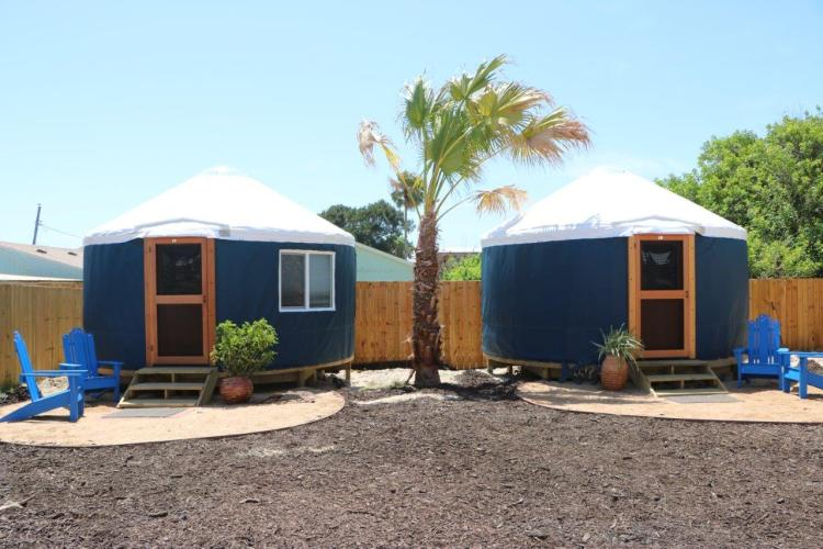 Yurts in Port Aransas Texas