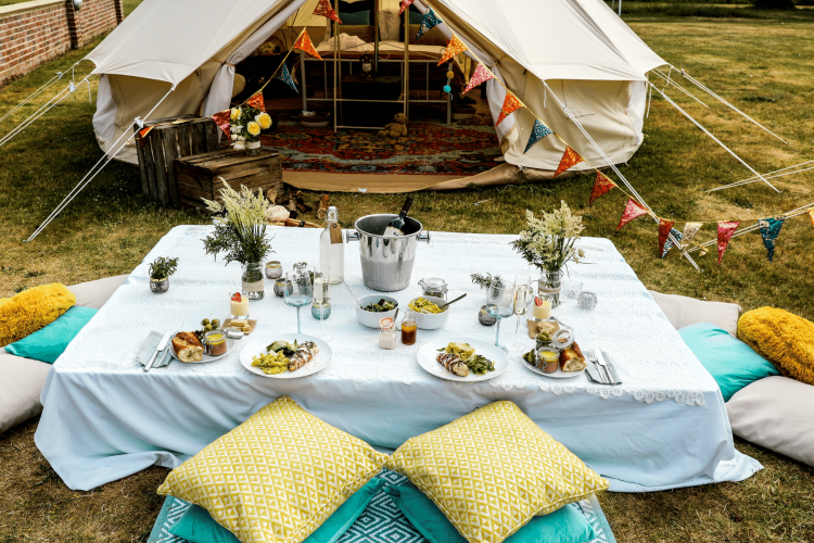 dining table ideas for glamping