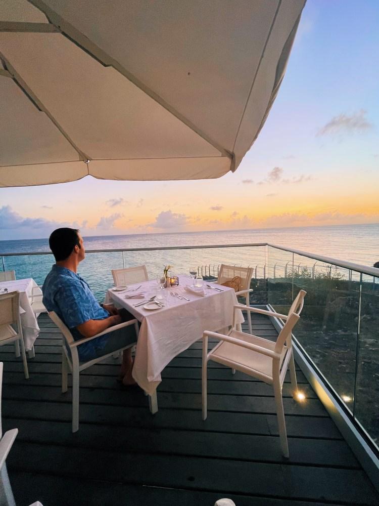 Sunset at Azul Restaurant