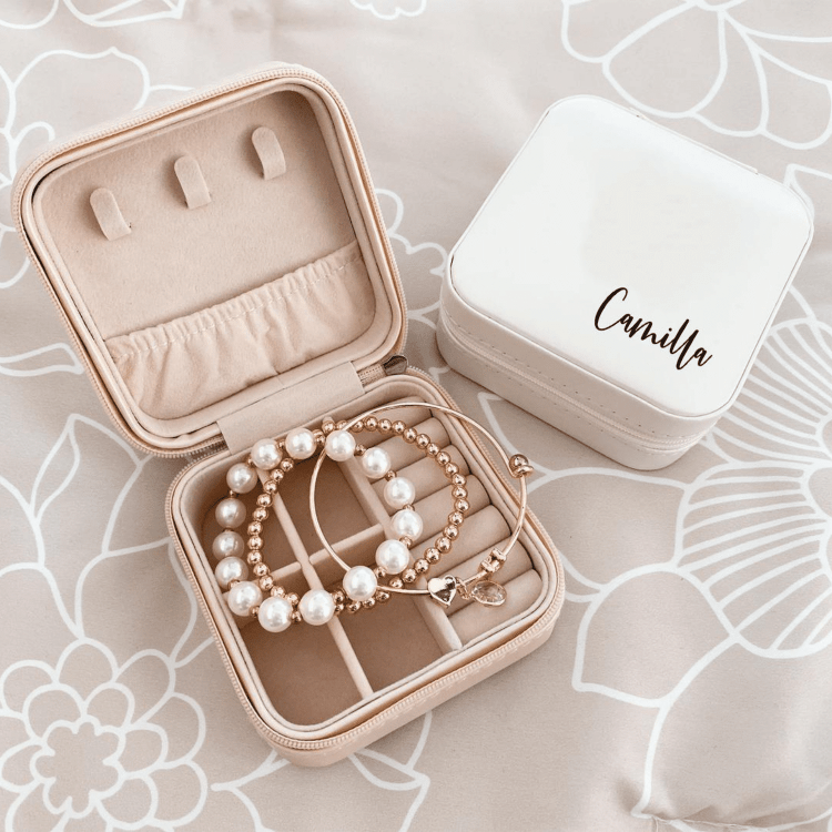 Bridesmaid Proposal Box Ideas - travel jewelry box