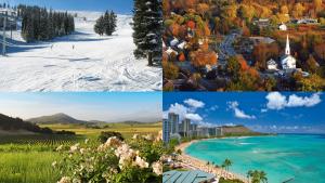 List of Best USA Honeymoon Destinations by Season