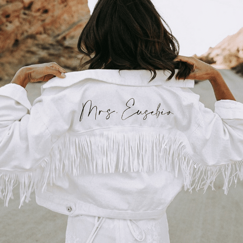 Bride Jean jacket for western bachelorette party