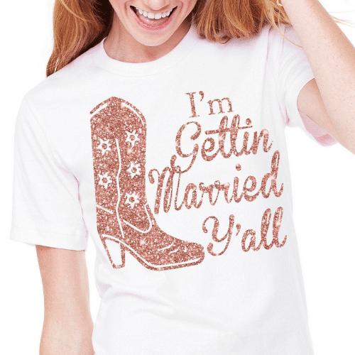 getting married tshirt - western bachelorette party
