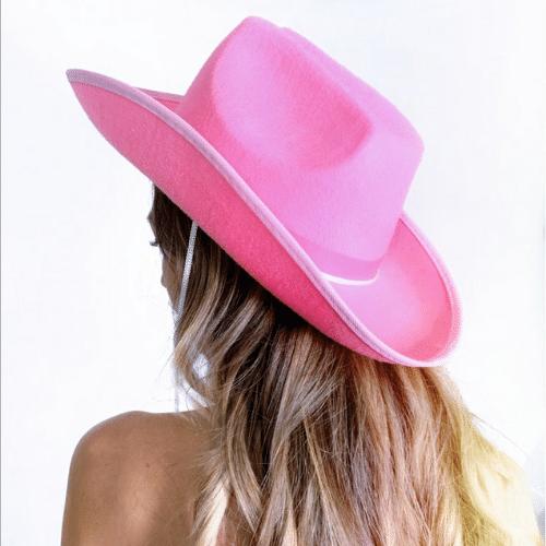 Bachelorette Pink cowboy hat - western bachelorette party