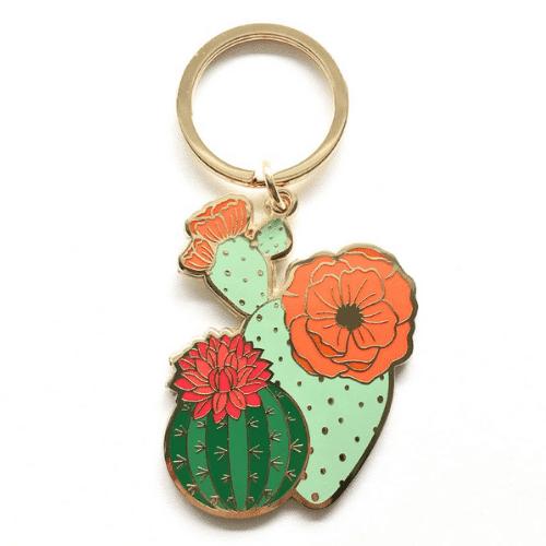 Fiesta Bachelorette Party cactus keychain