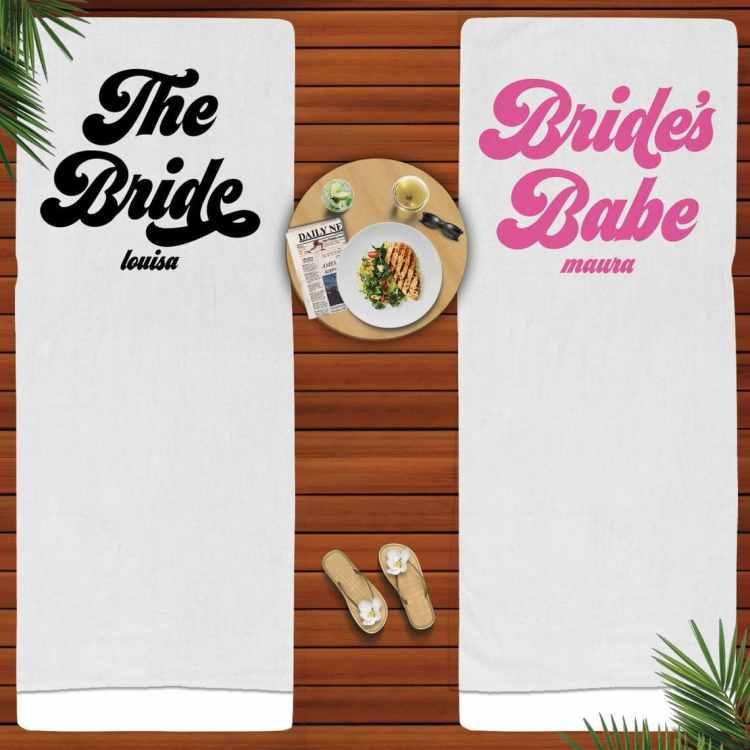 tropical Beach Bachelorette Party towels