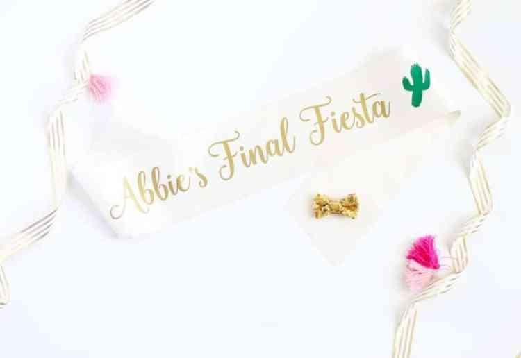 Fiesta Bachelorette Party Sash