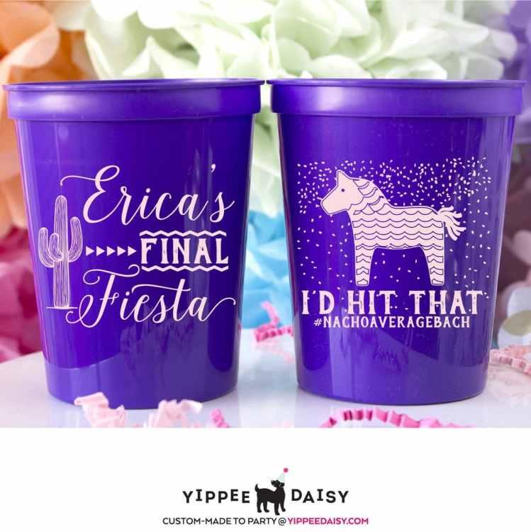 fiesta plastic cups - Fiesta Bachelorette Party