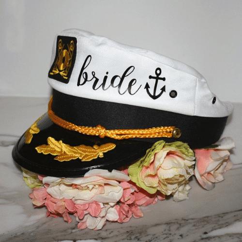 Nautical Bachelorette Party Ideas - bride captain hat