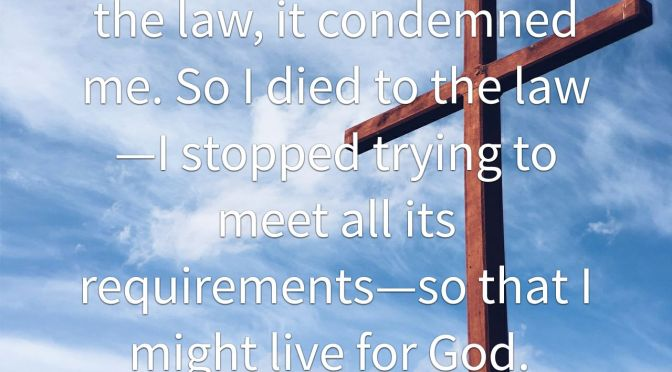 The Law Condemned Me, Christ Restores Me