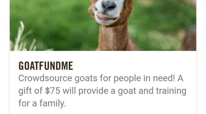 #GoatFundMe Crowdsourcing
