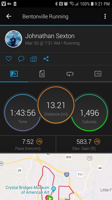 Bentonville Half Marathon 2019 onechristianman.com 13.2?