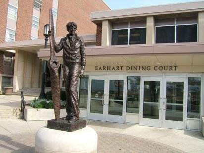 Image result for purdue university earhart statue