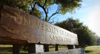 University of california santa cruz entrance sign