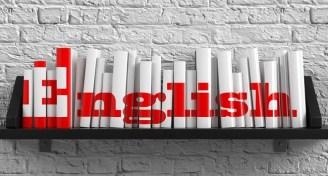 English language bookshelf image
