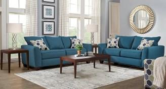Lr rm bonitasprings blue 7pc tx bonita springs blue 5 pc living room