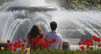 Purdue founders park fountain3  050108