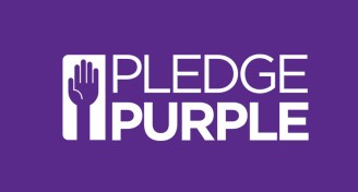 Pledge purple banner