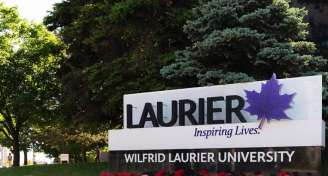 Banner laurier sign visitors