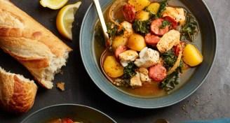 One pot halibut and chorizo soup 810x445