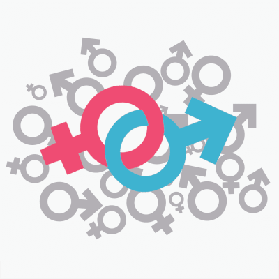 This image is of the two symbols for gender, and it ties in nicely with human sexuality as a course!